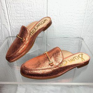 SAM EDELMAN Copper Horse-bit Loafer Mules